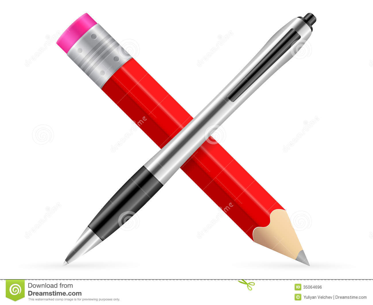 Pencil And Pen Icon Royalty Free Stock Image - Image: 35064696