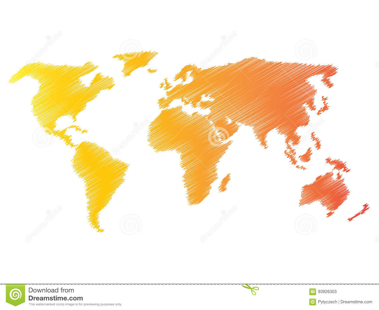 Pencil Scribble Sketch Map Of World. Hand Doodle Drawing. Vector ...