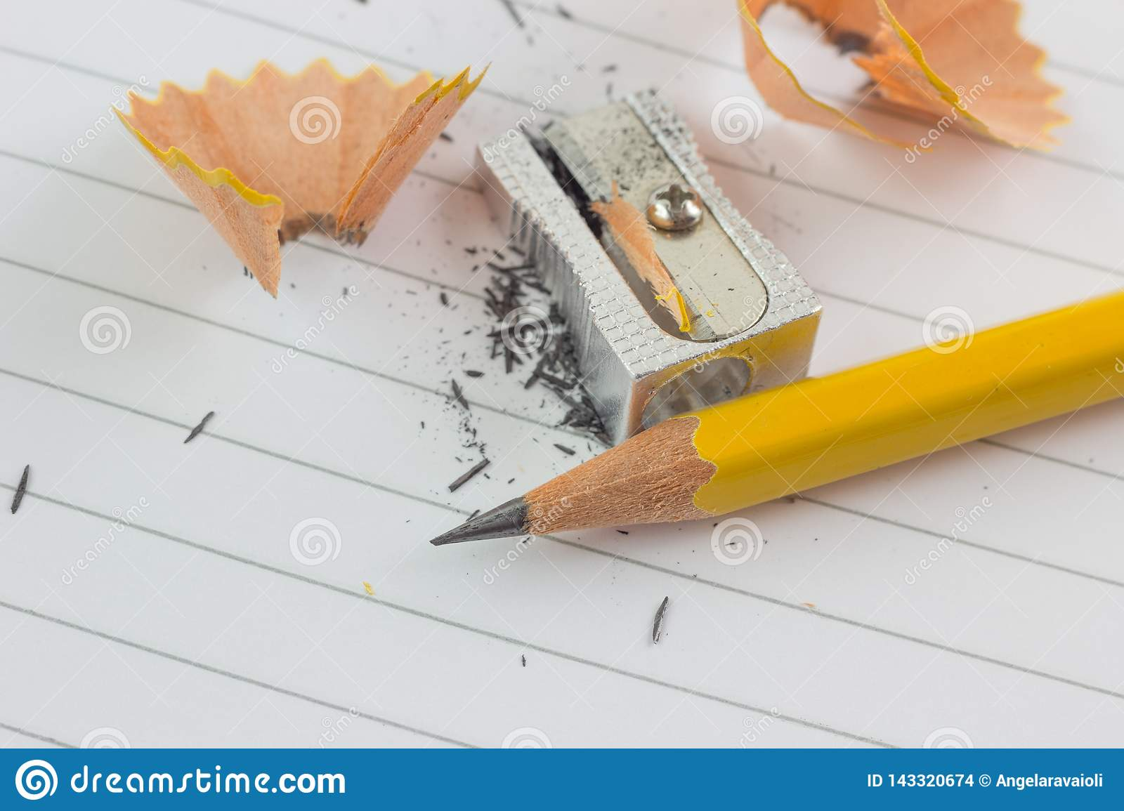 Pencil and sharpened