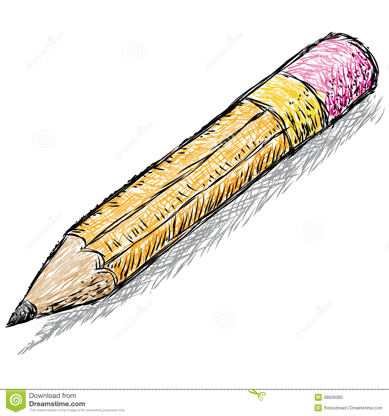 Pencil sketch stock vector illustration of draw teaching 28626085