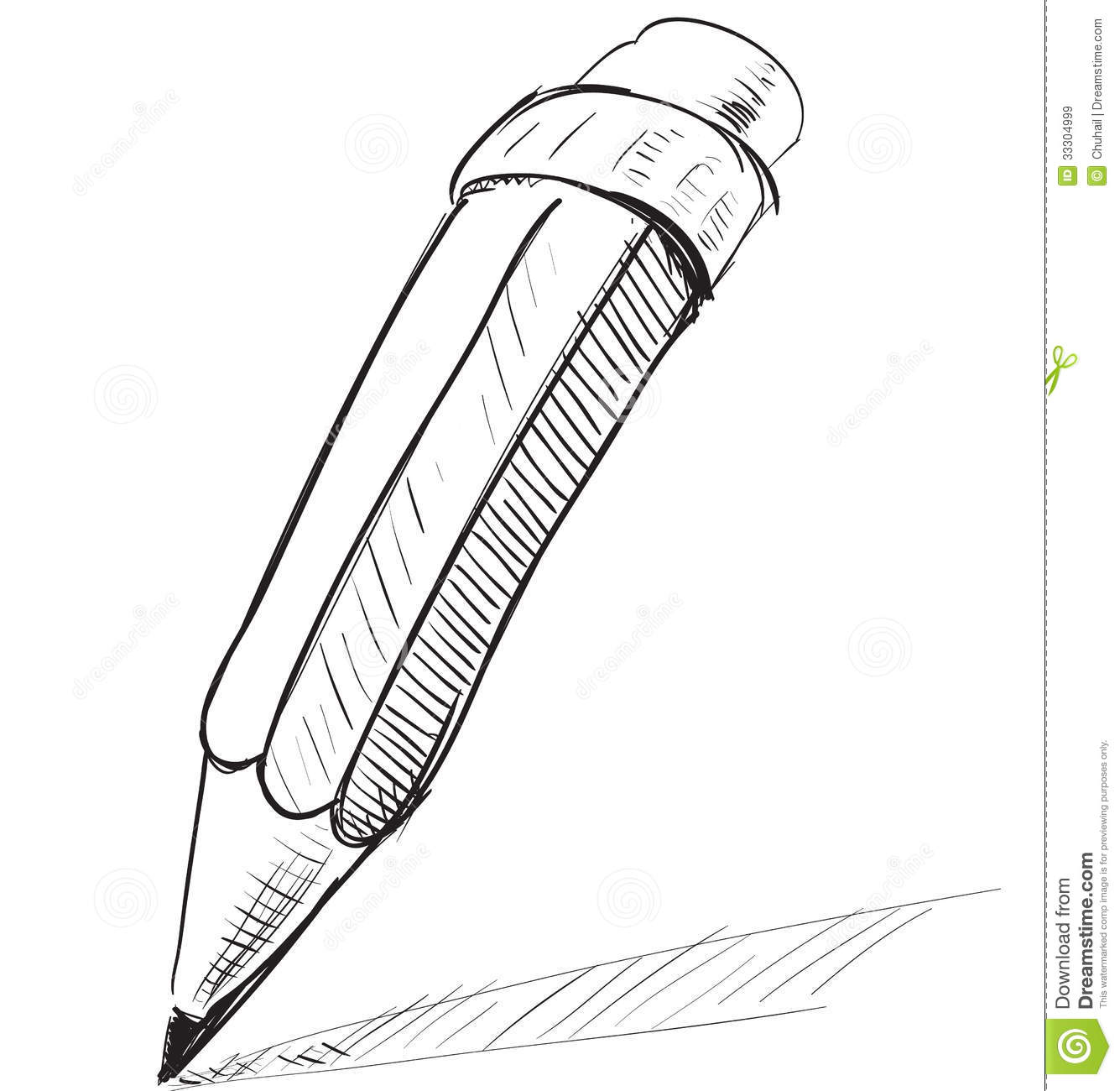 Pencil Drawing Images Cartoons: Pencil Sketch Cartoon Vector Illustration Royalty Free