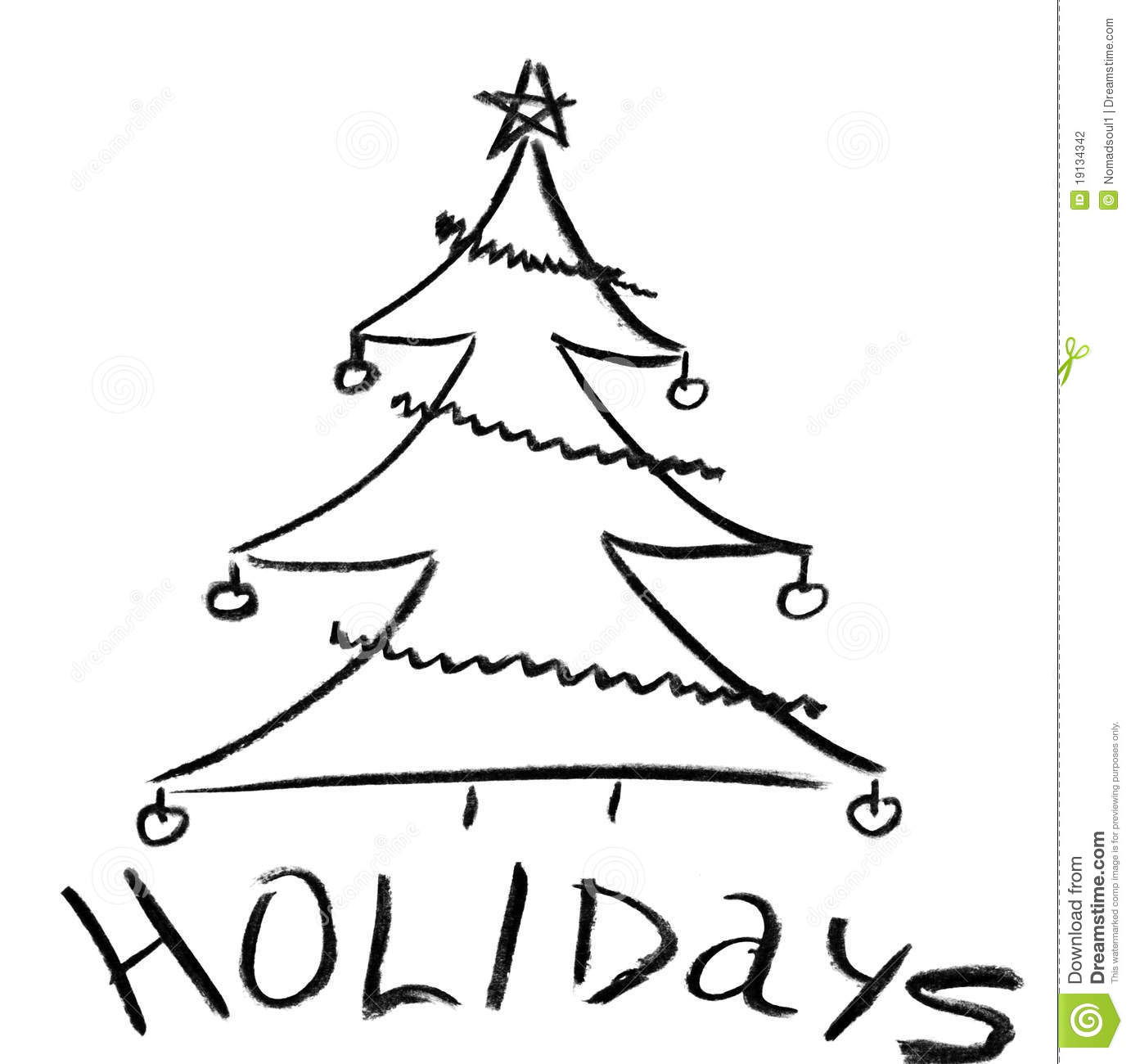 Christmas Tree Pic Skitch Pencil Sketch