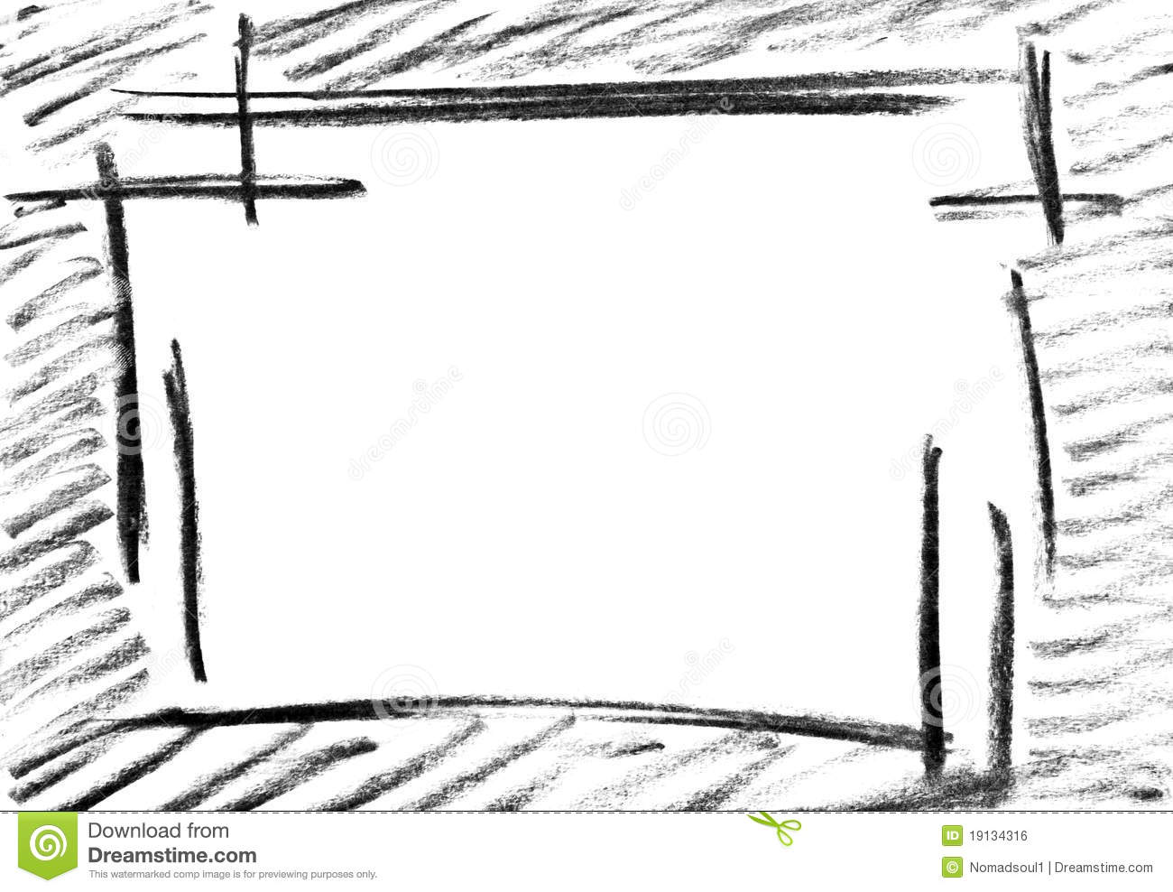 Pencil Sketch of Empty Frame Stock Photo   Image of pencil, frame ...