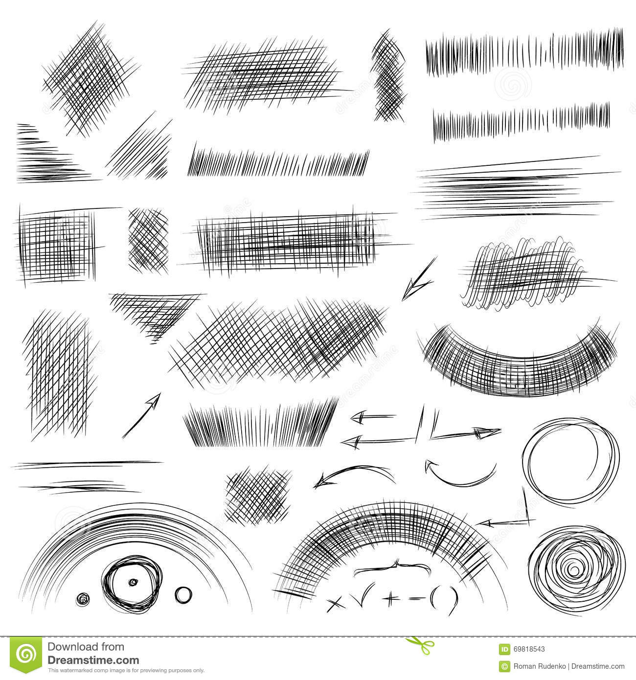 Drawing Lines Between Html Elements : Pencil shading doodle stock photography cartoondealer