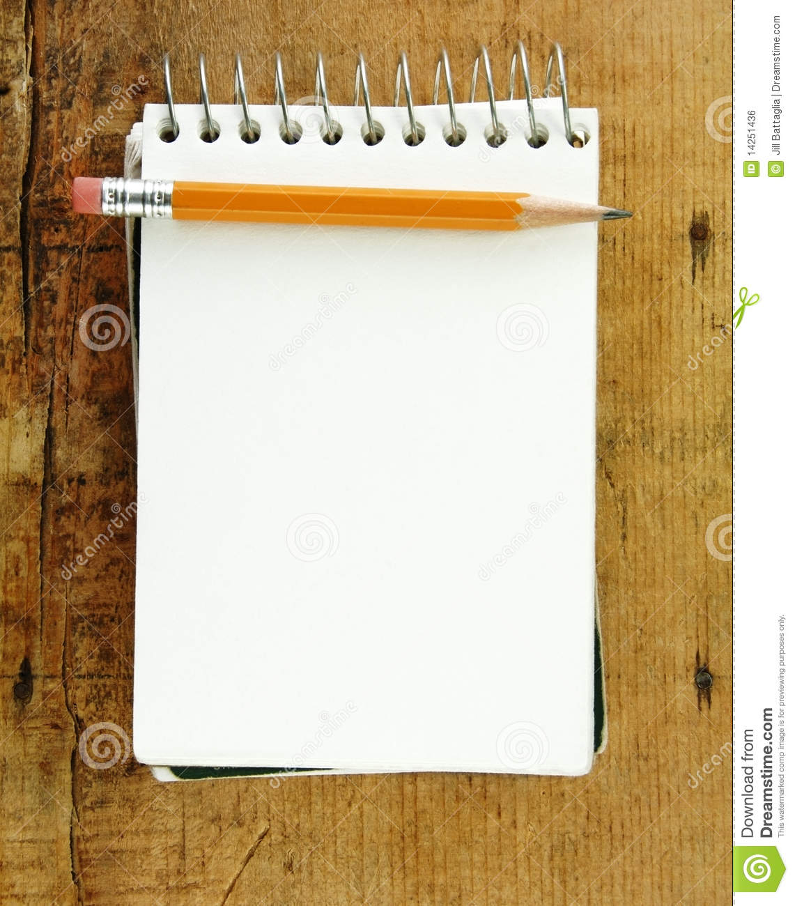 Pencil On Small Pad Of Paper Royalty Free Stock Image - Image ...