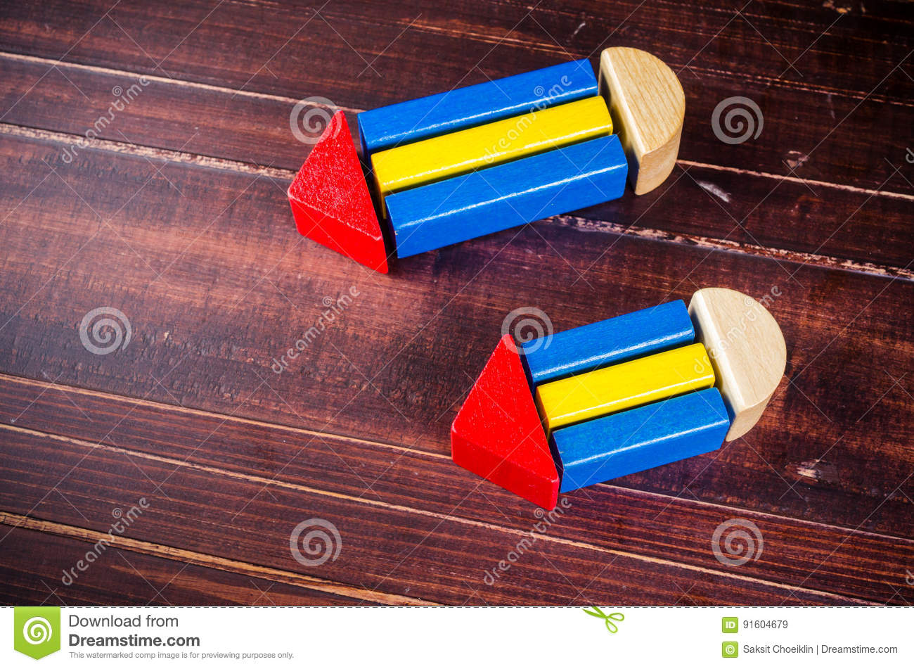 Pencil Symbol From Color Wooden Blocks Stock Image Image Of Growth