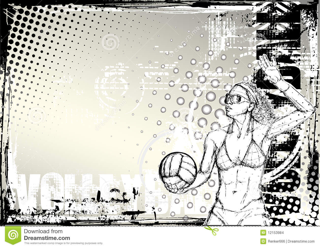 Abstract Grungy Background Volleyball Arrowhead Stock: Pencil Volleyball Grungy Background 2 Stock Images