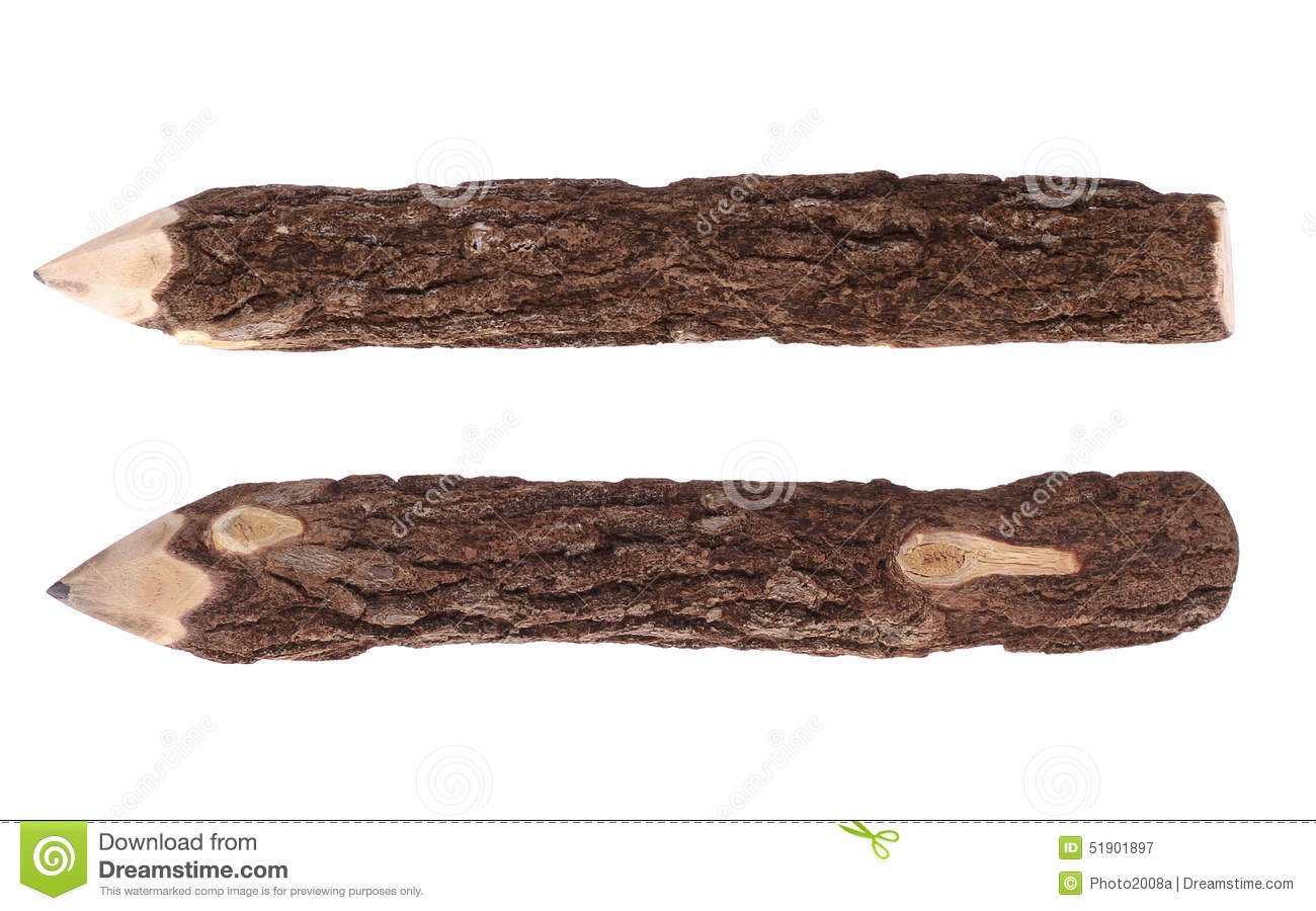 Pencil Wood Bark Stock Photo Image 51901897