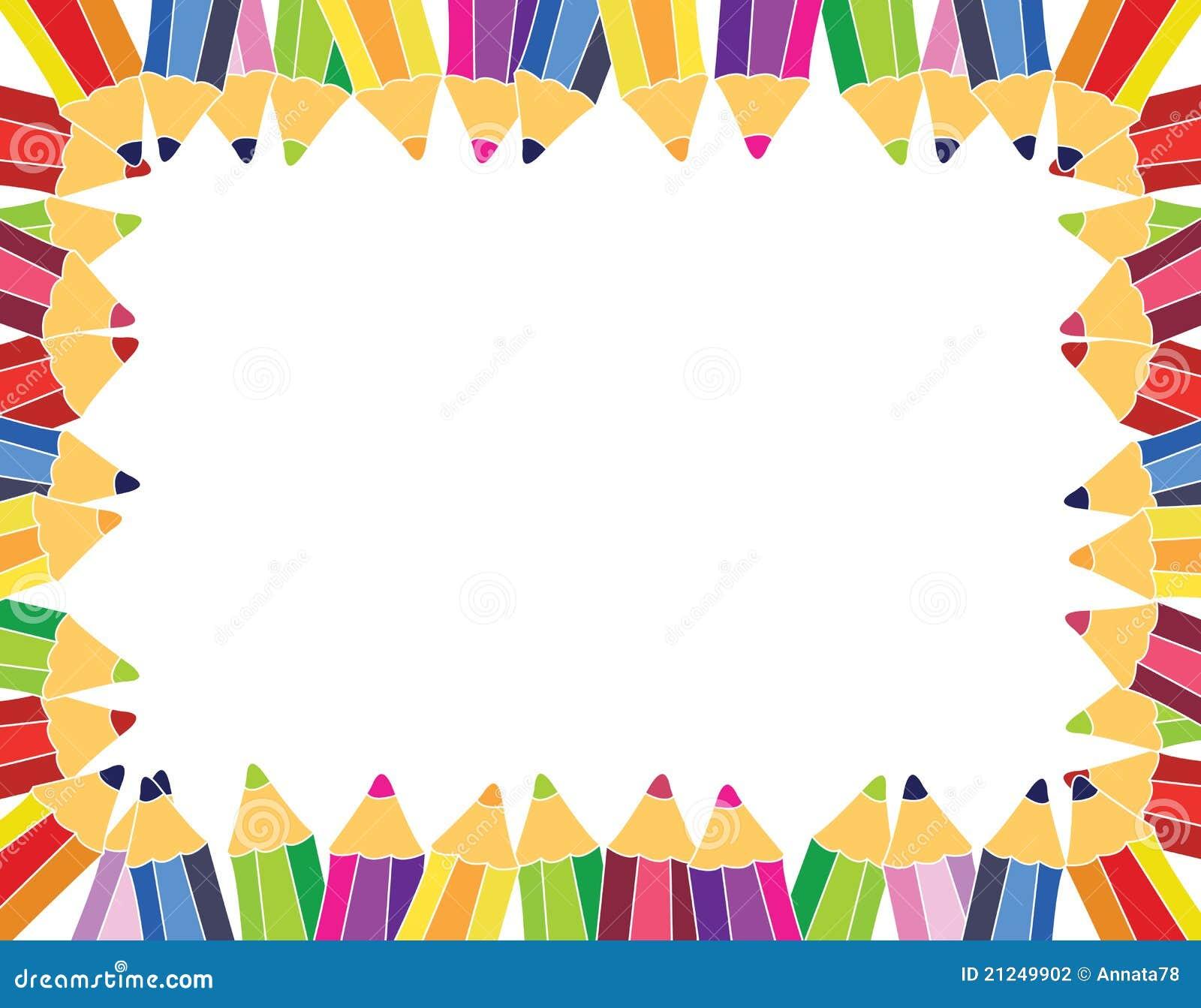 Stock Photography Pencils Frame Image21249902 on Crayon Border