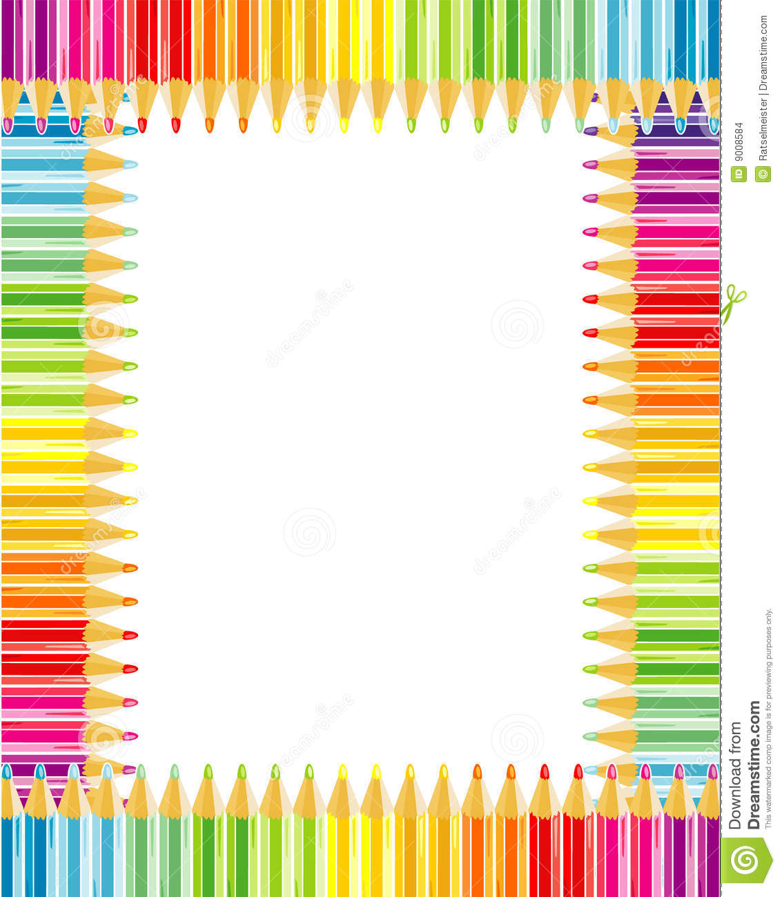 Pencils Frame Or Border Stock Images Image 9008584