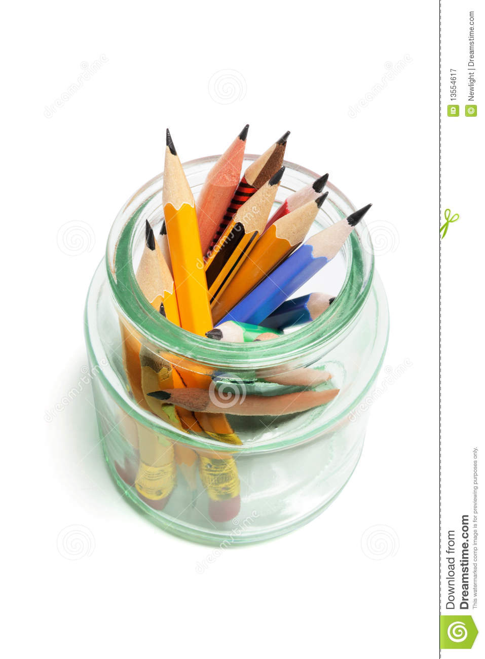 Pencils In Glass Jar Royalty Free Stock Photography ...
