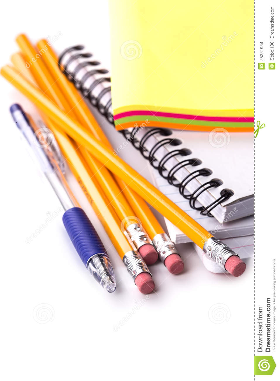 pencils pen notebook stickers stock images image