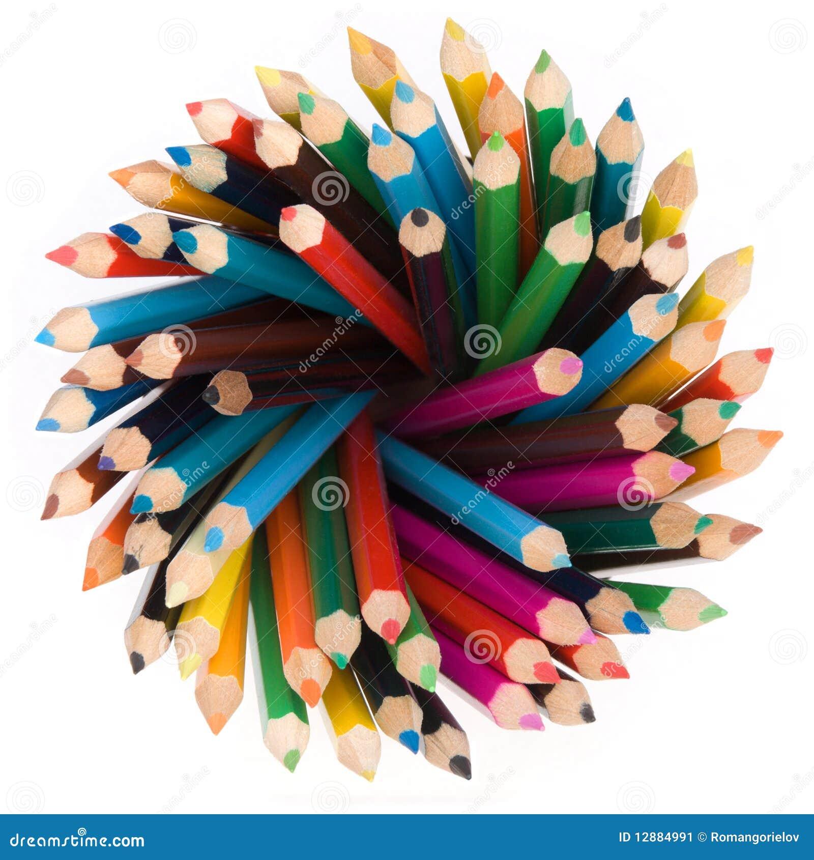 Pencils top view
