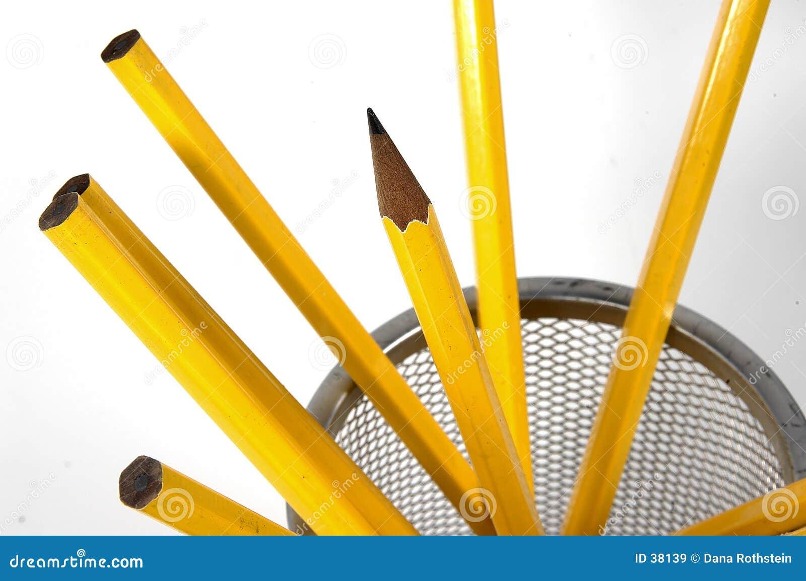 Pencils unsharpened
