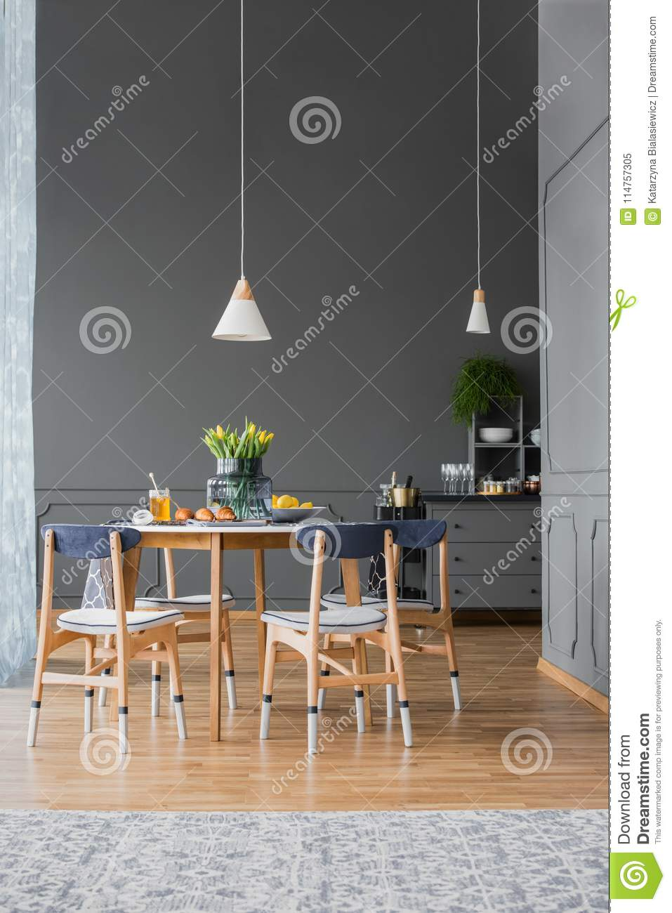 Superb Pendant Light Above Dining Table Stock Image Image Of Home Interior And Landscaping Mentranervesignezvosmurscom