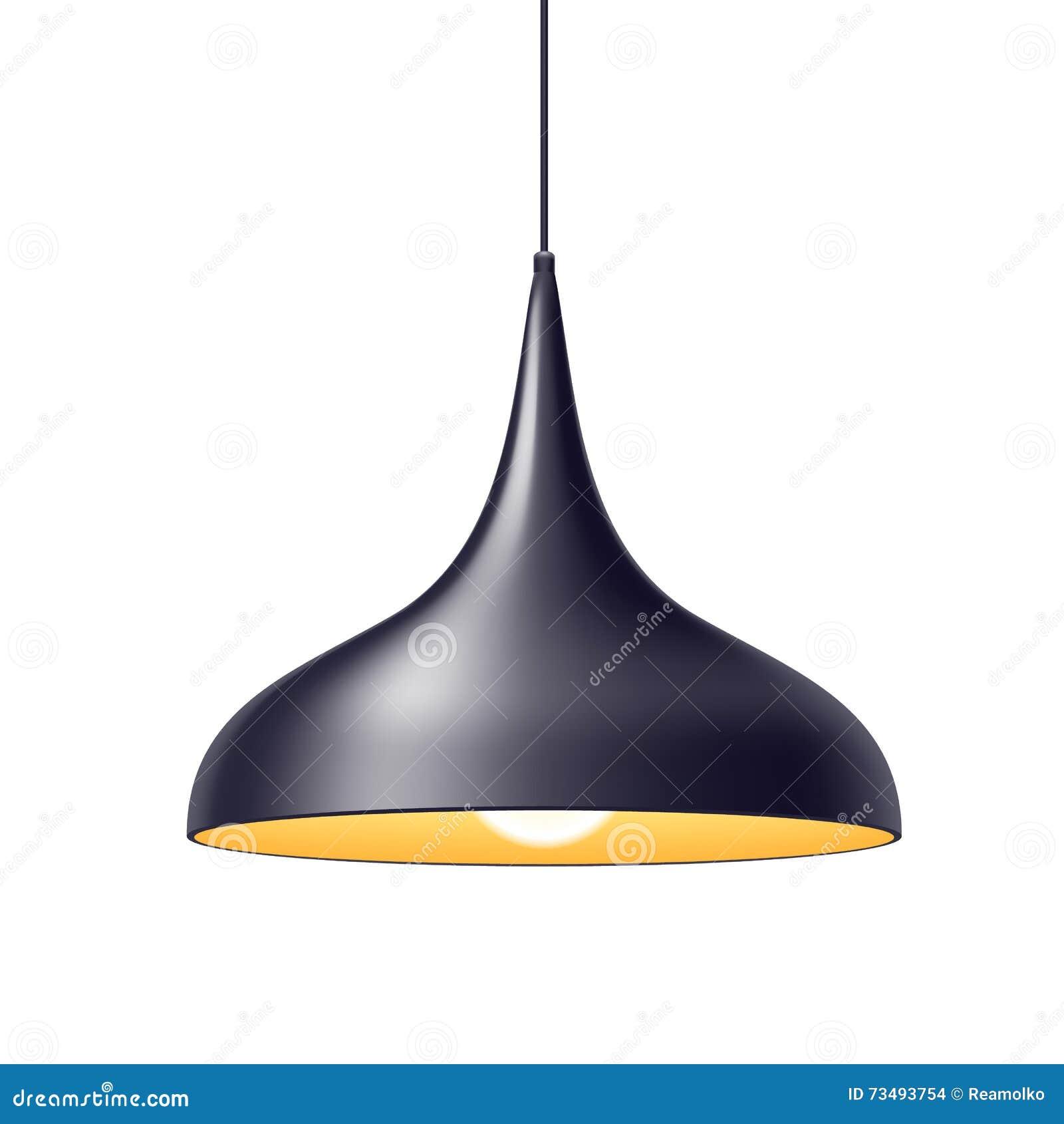 Pendant Light Lamp Vector Illustration. Stock Vector