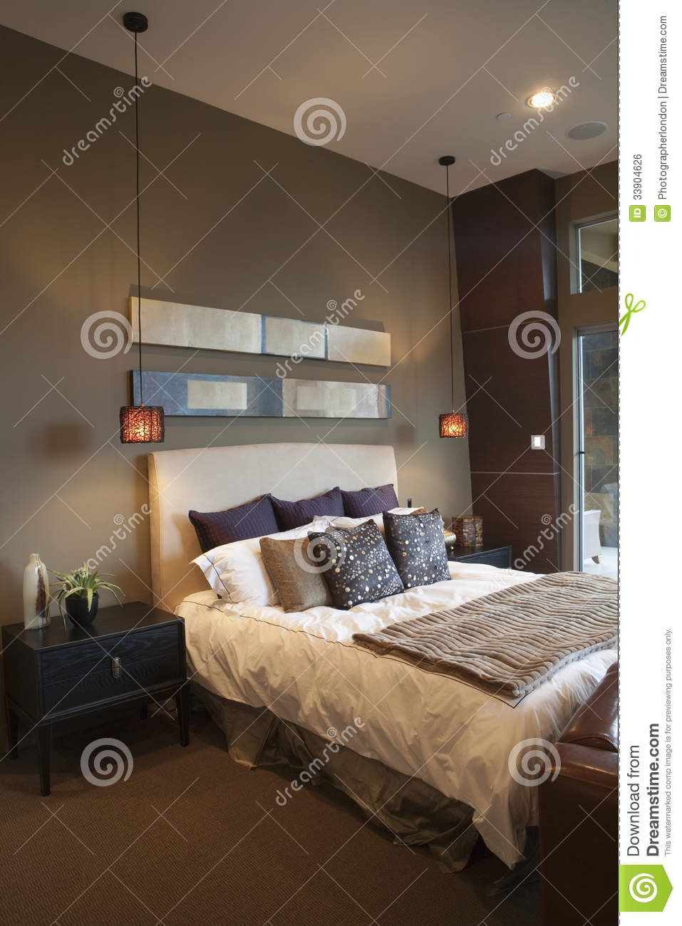 Pendant lights in bedroom