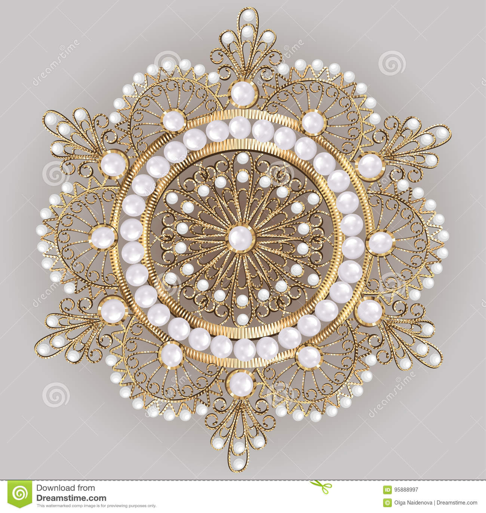 Pendente do broche com e pedras preciosas filigree