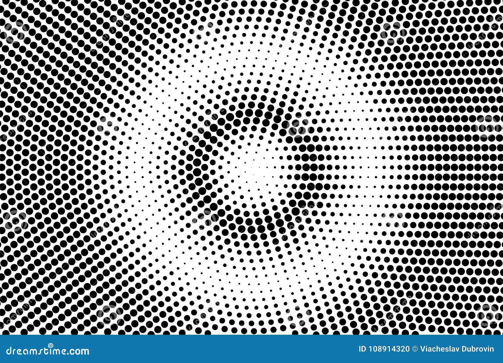 Pendenza punteggiata concentrata bianco nero Fondo del semitono