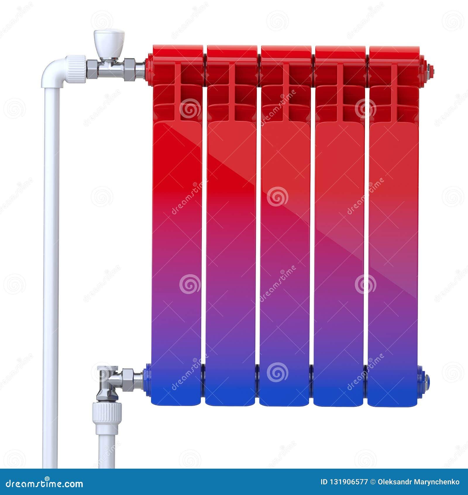 Pendiente Del Frío A Caliente Concepto Del Calentador