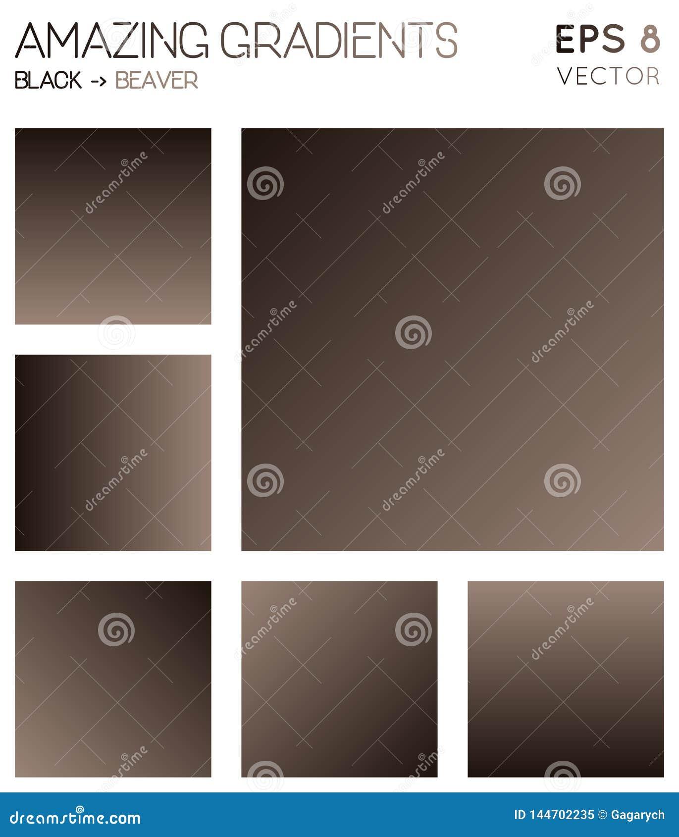 Pendientes coloridas en negro, tonos del color del castor
