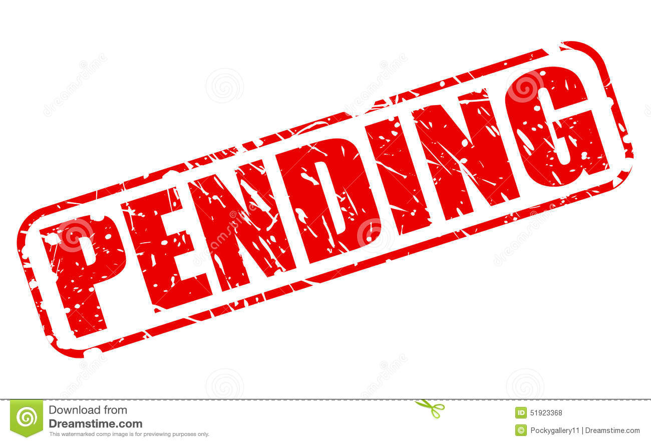 Pending Red Stamp Text Stock Vector - Image: 51923368