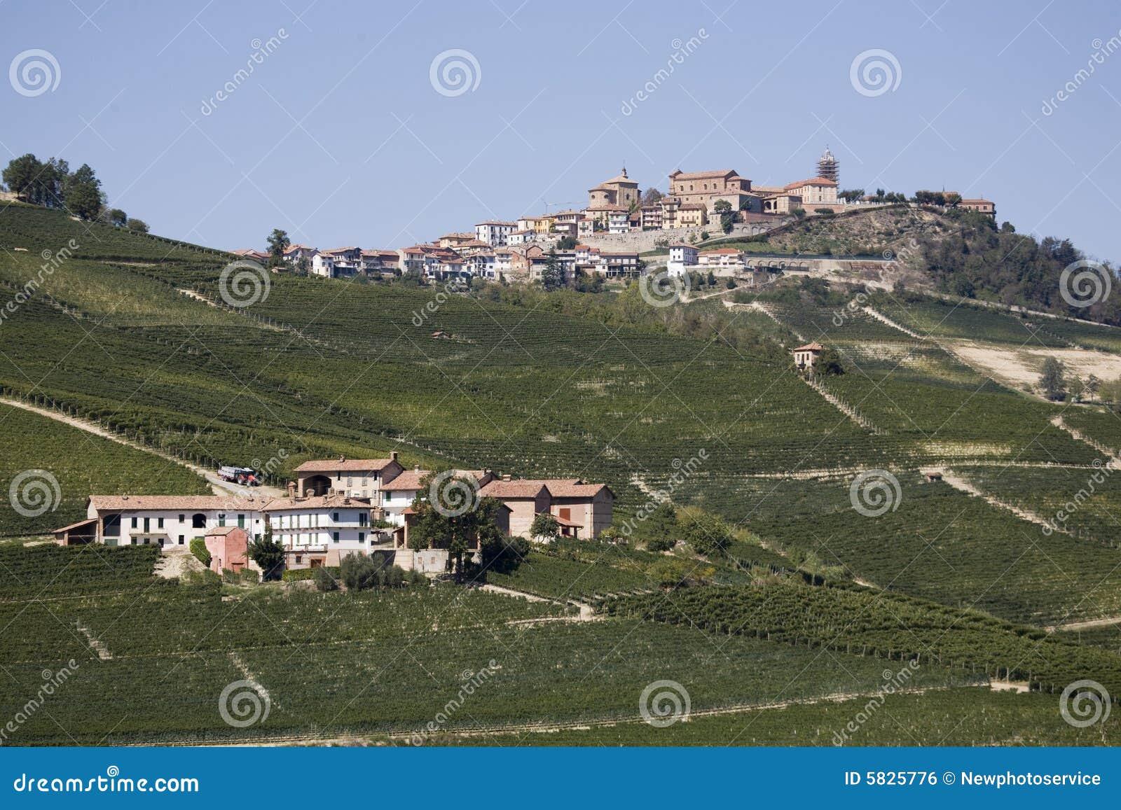 Pendio di collina in Piemonte