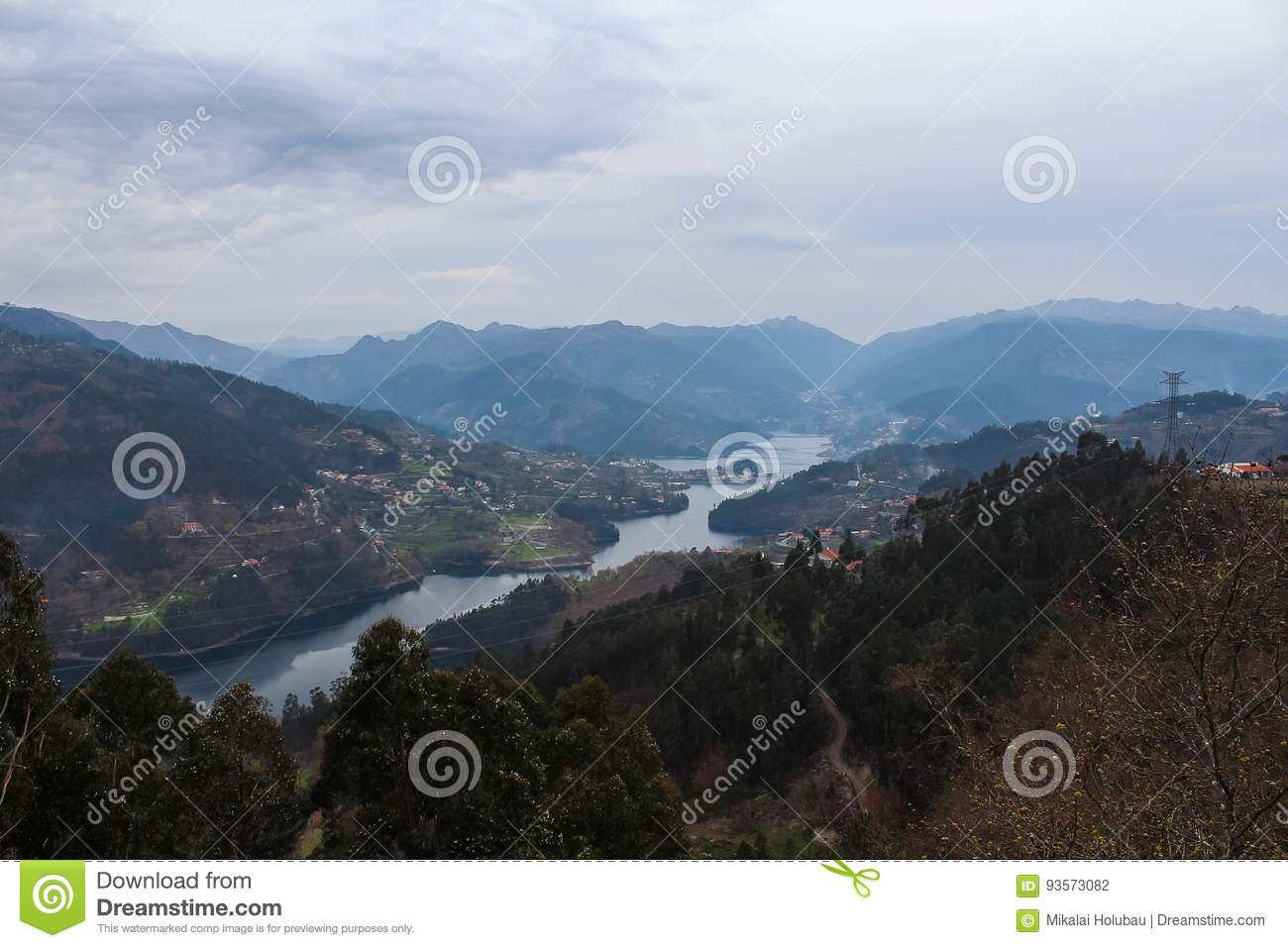 Peneda-Geres mountains and rivers. Portugal