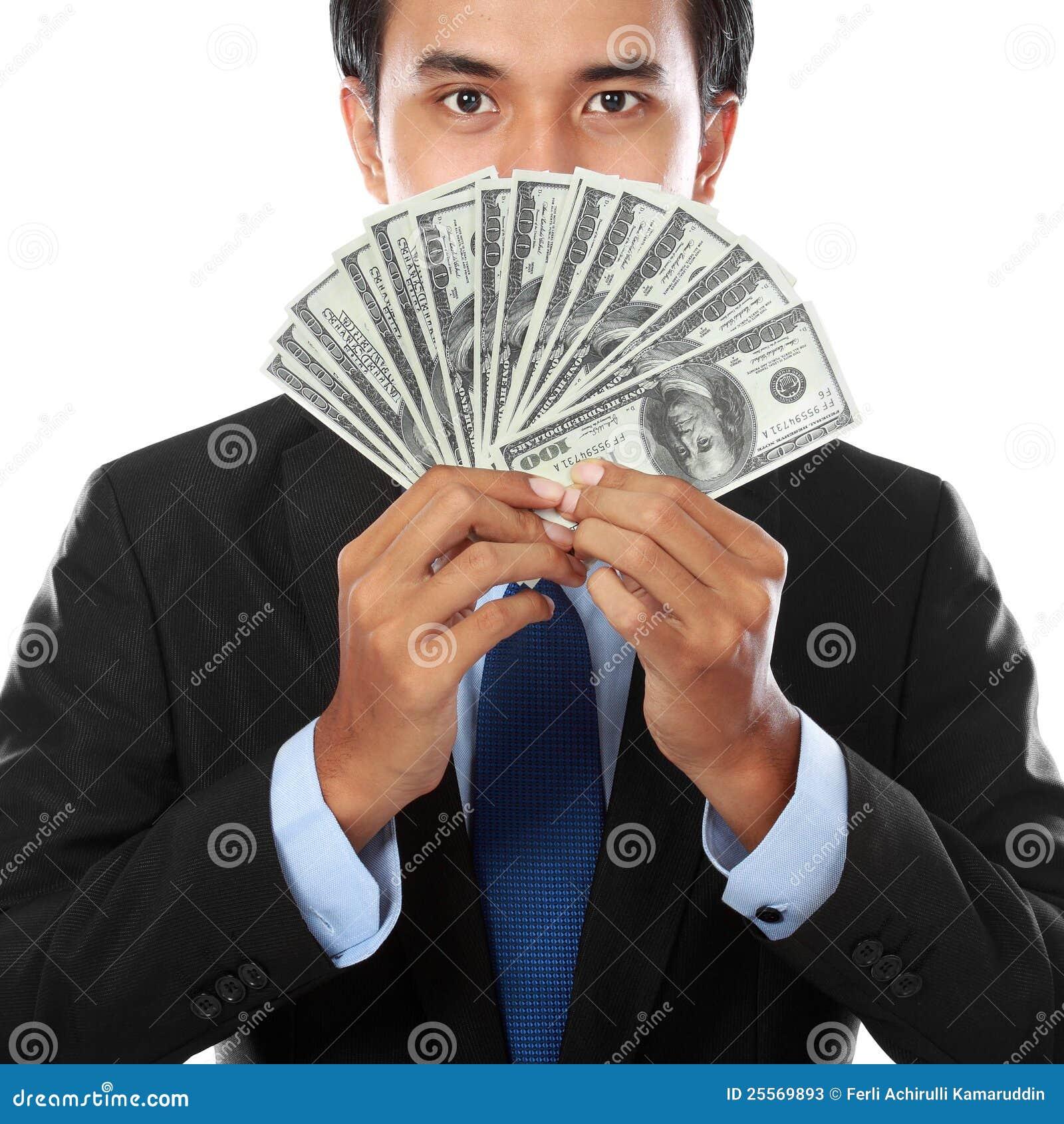 Pengar för affärsholdingman