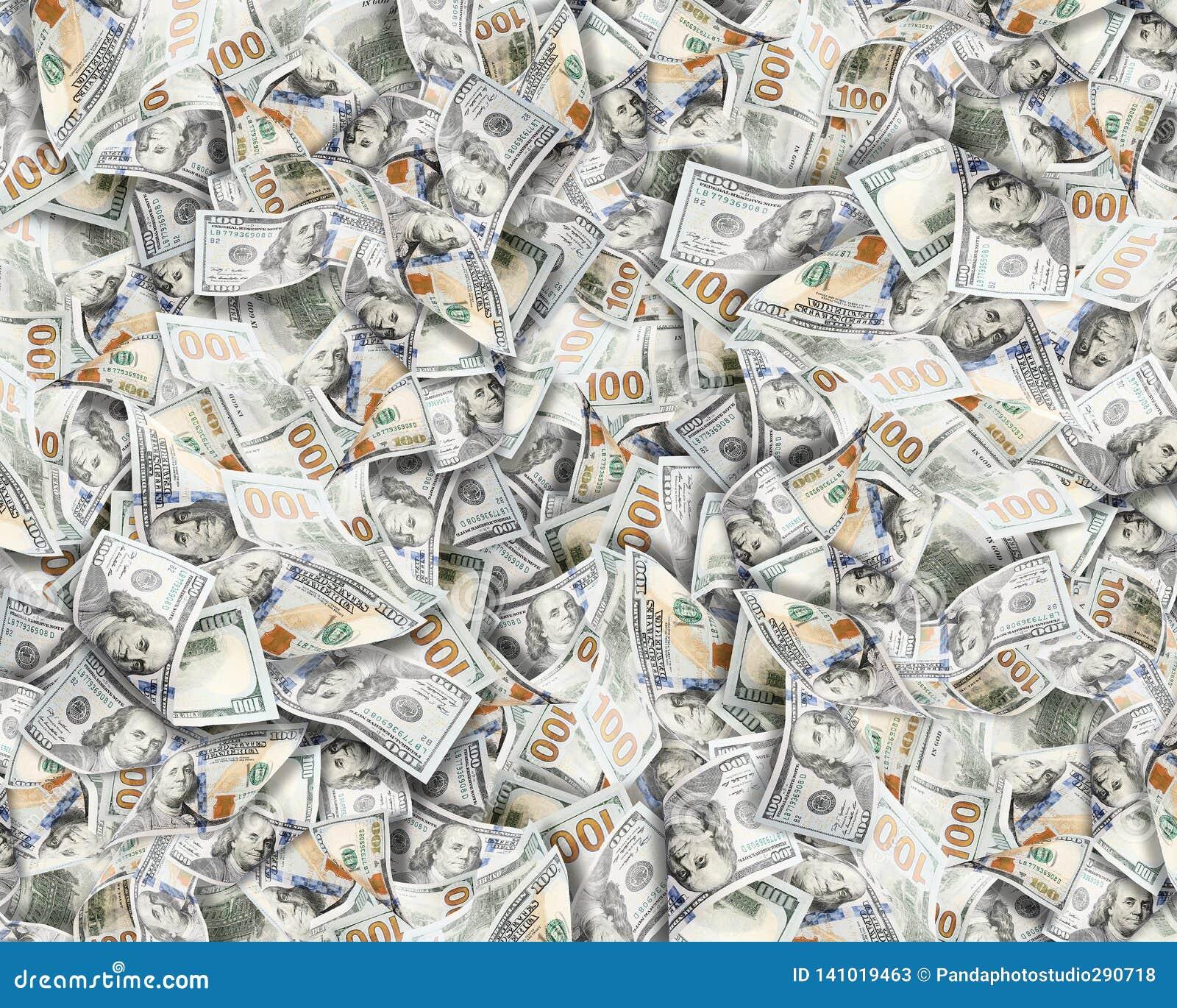 Pengar för bakgrundsdollar mycket Högt detaljerad bild av amerikanUSA pengar