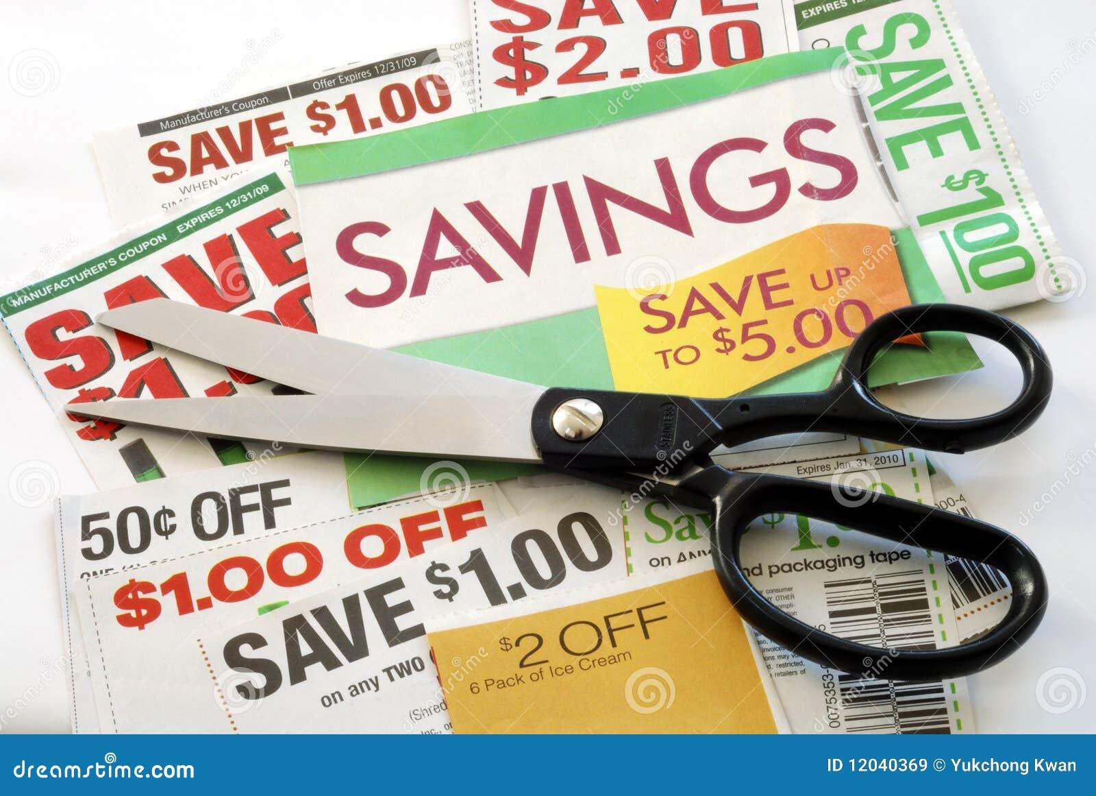 Pengar för kupongsnittet sparar något till upp