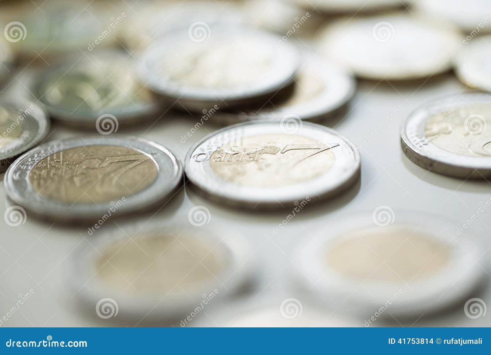 Pengar finanser coins euro