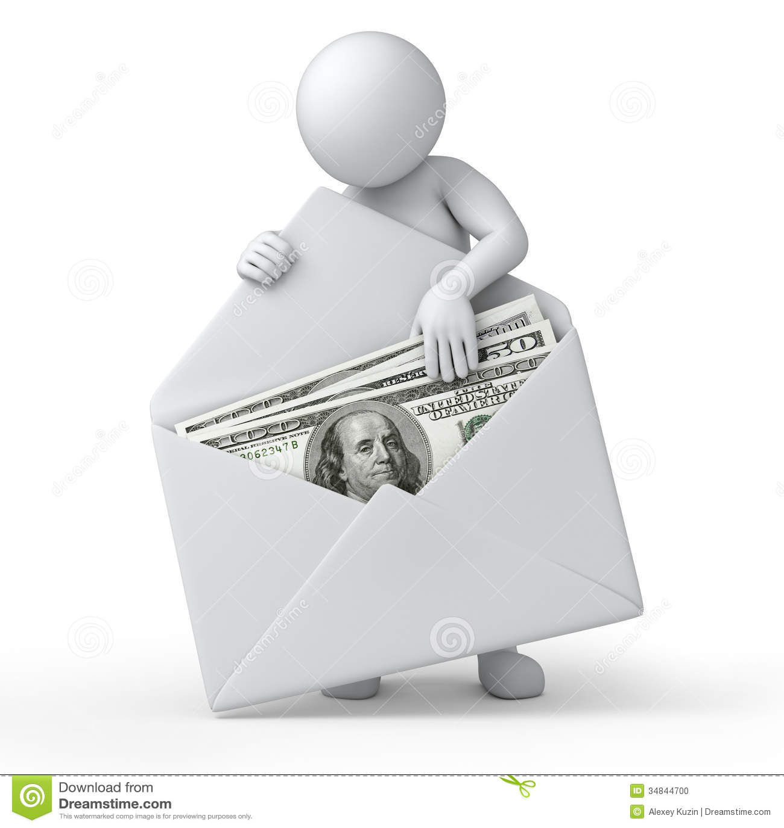 Pengar i ett kuvert