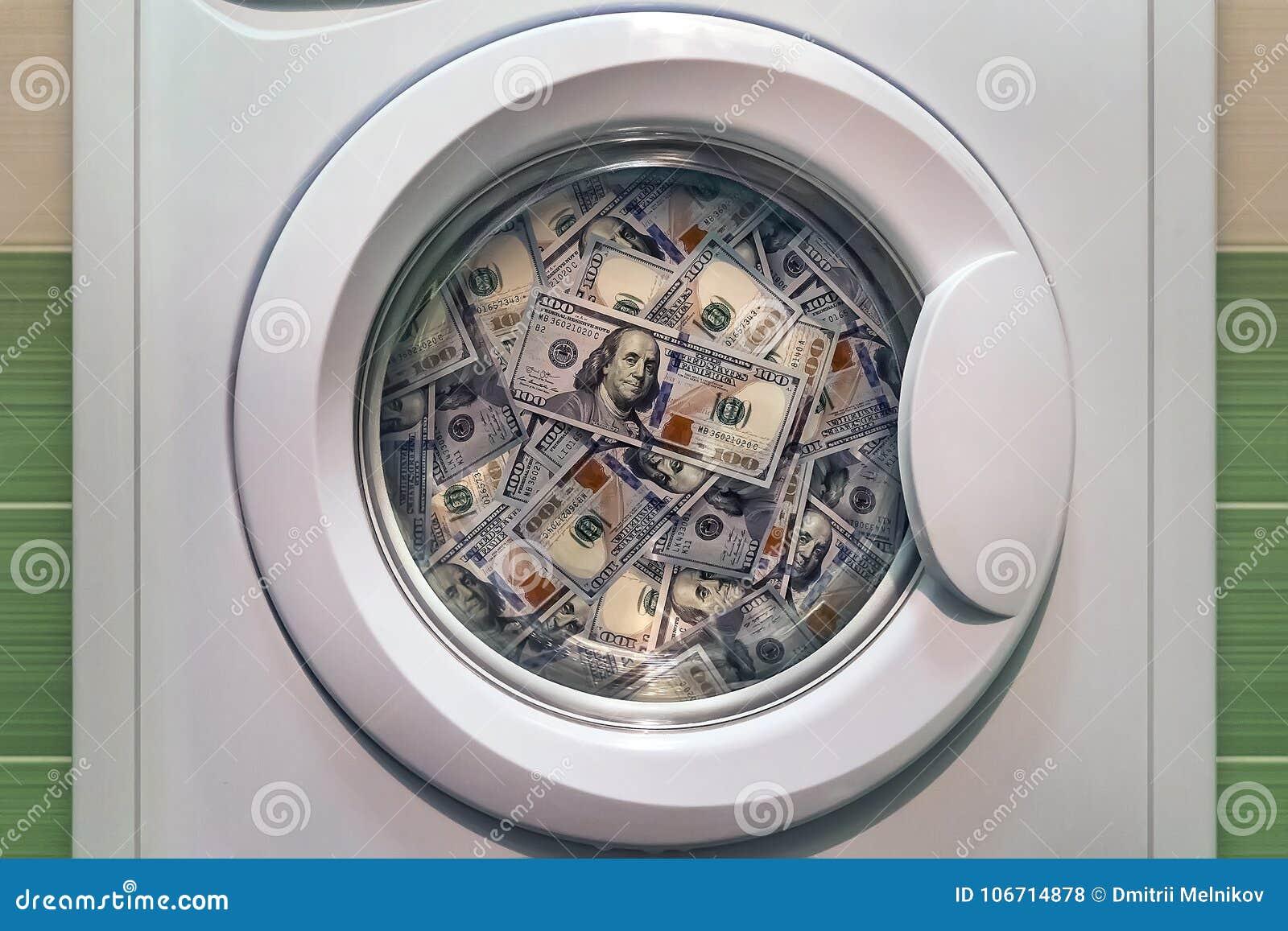 Pengar i slut för tvagningmaskin upp