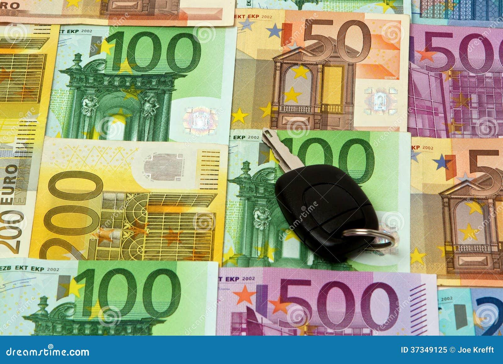 Pengar och en biltangent