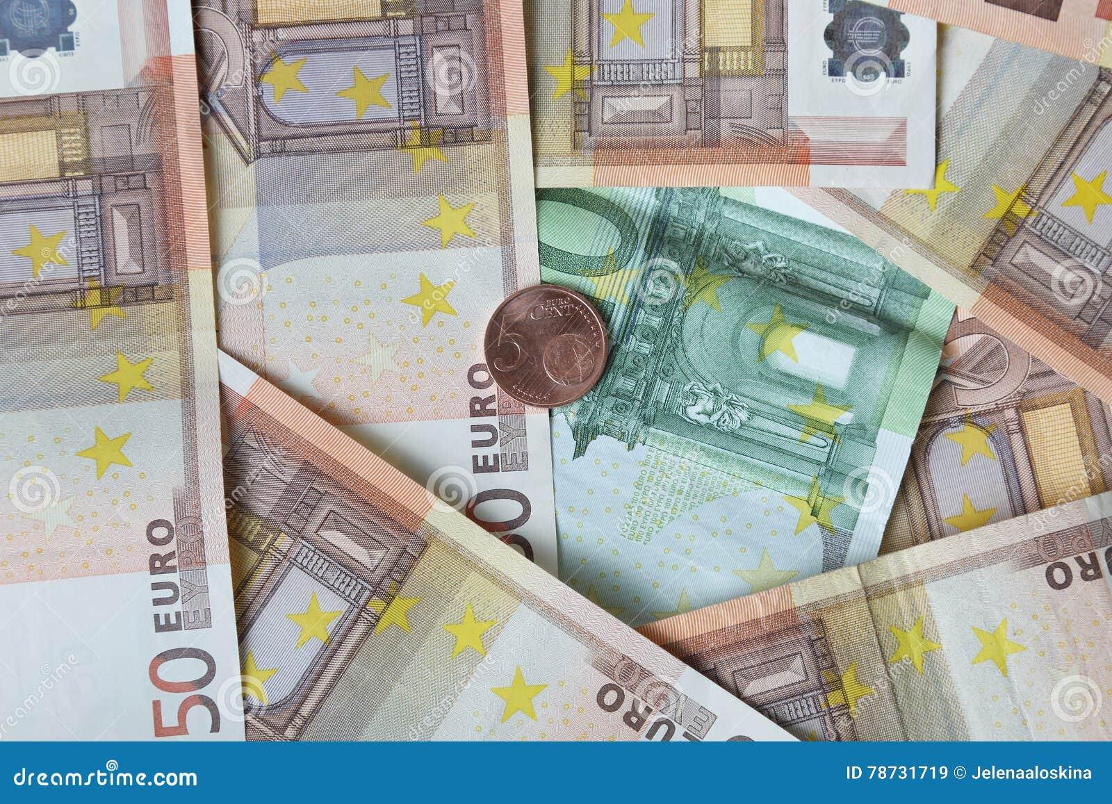 Pengarbakgrund med myntet