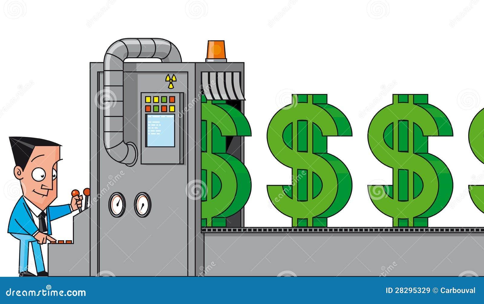 Pengardanande bearbetar med maskin