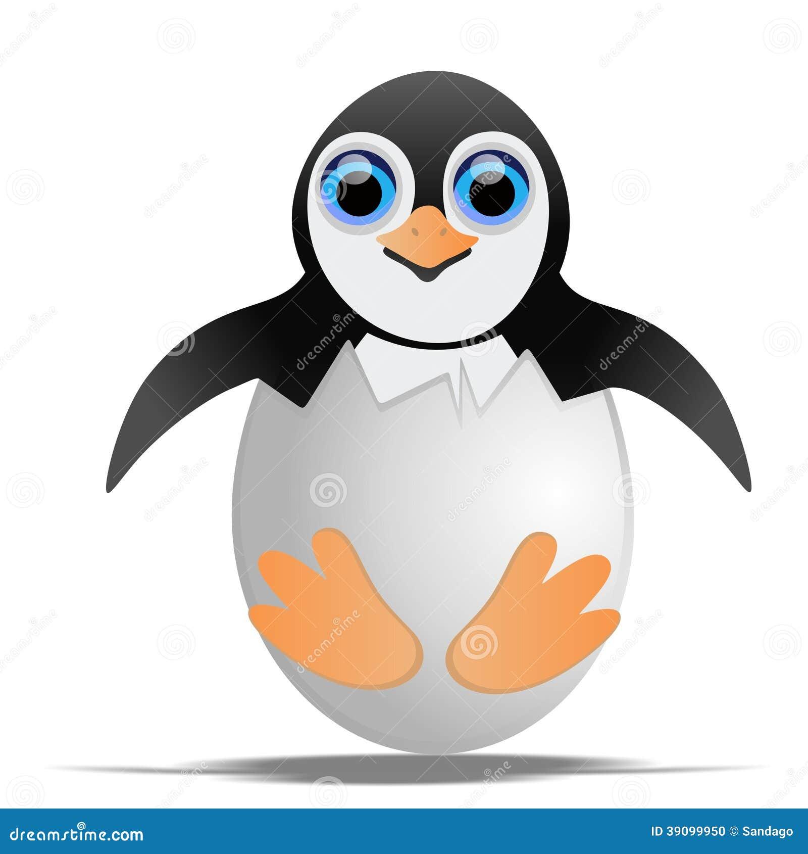 Penguin στο κοχύλι αυγών