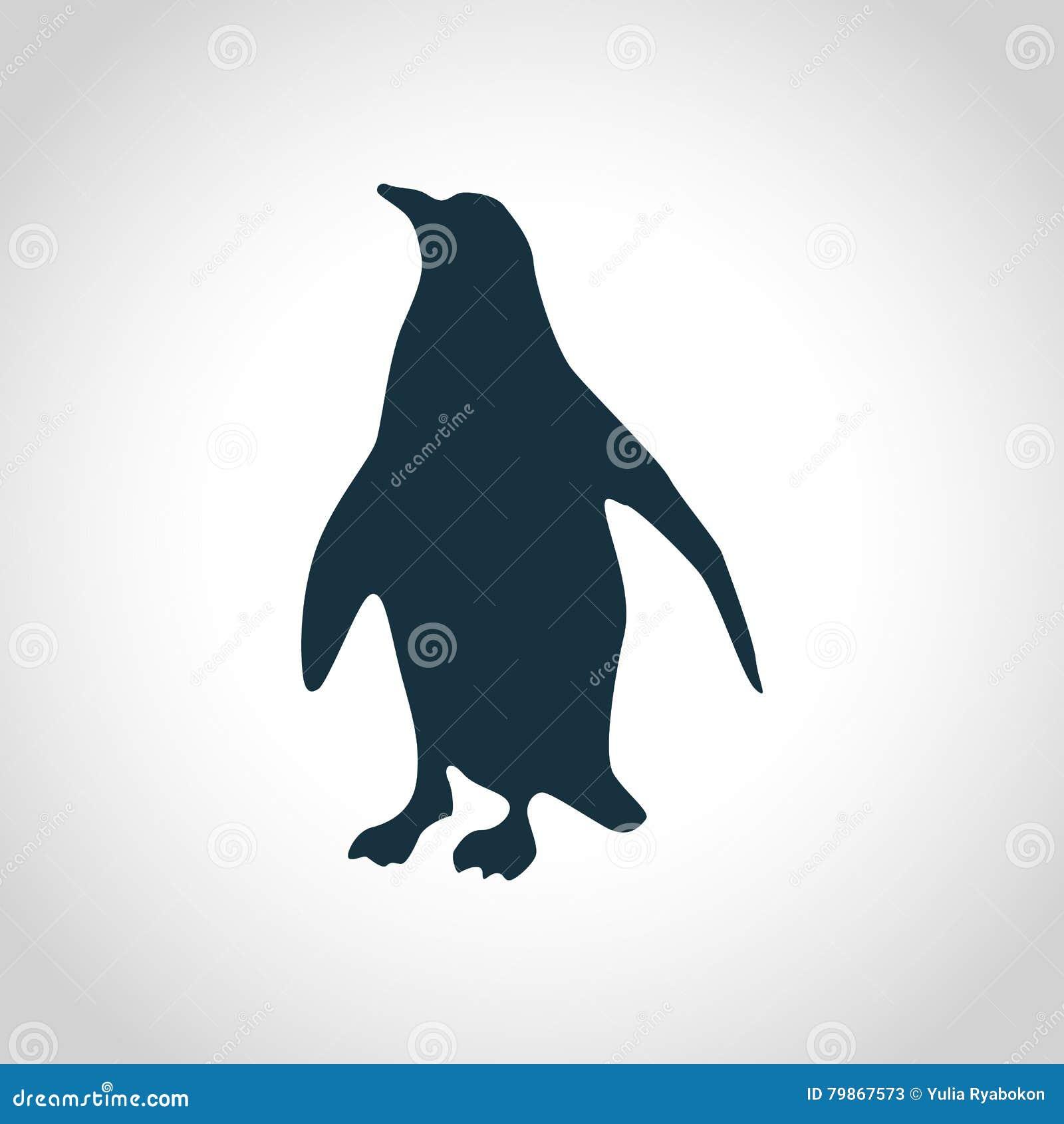 Emperor penguin silhouette