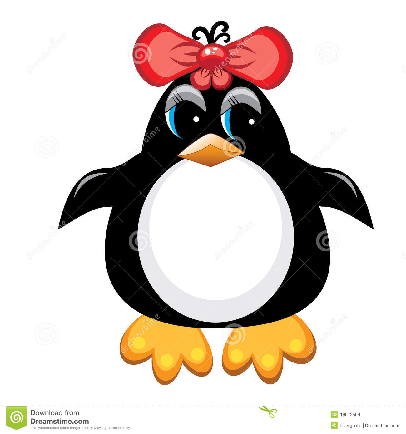 More similar stock images of ` Penguin cartoon bird. Girl. `