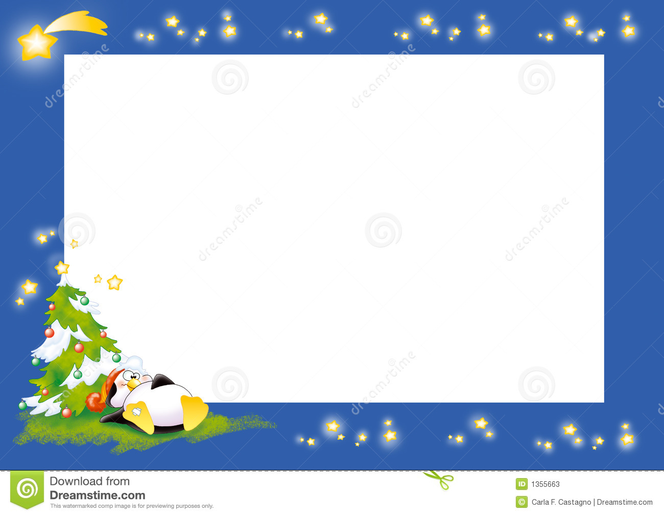 penguin christmas label stock illustration illustration of stars