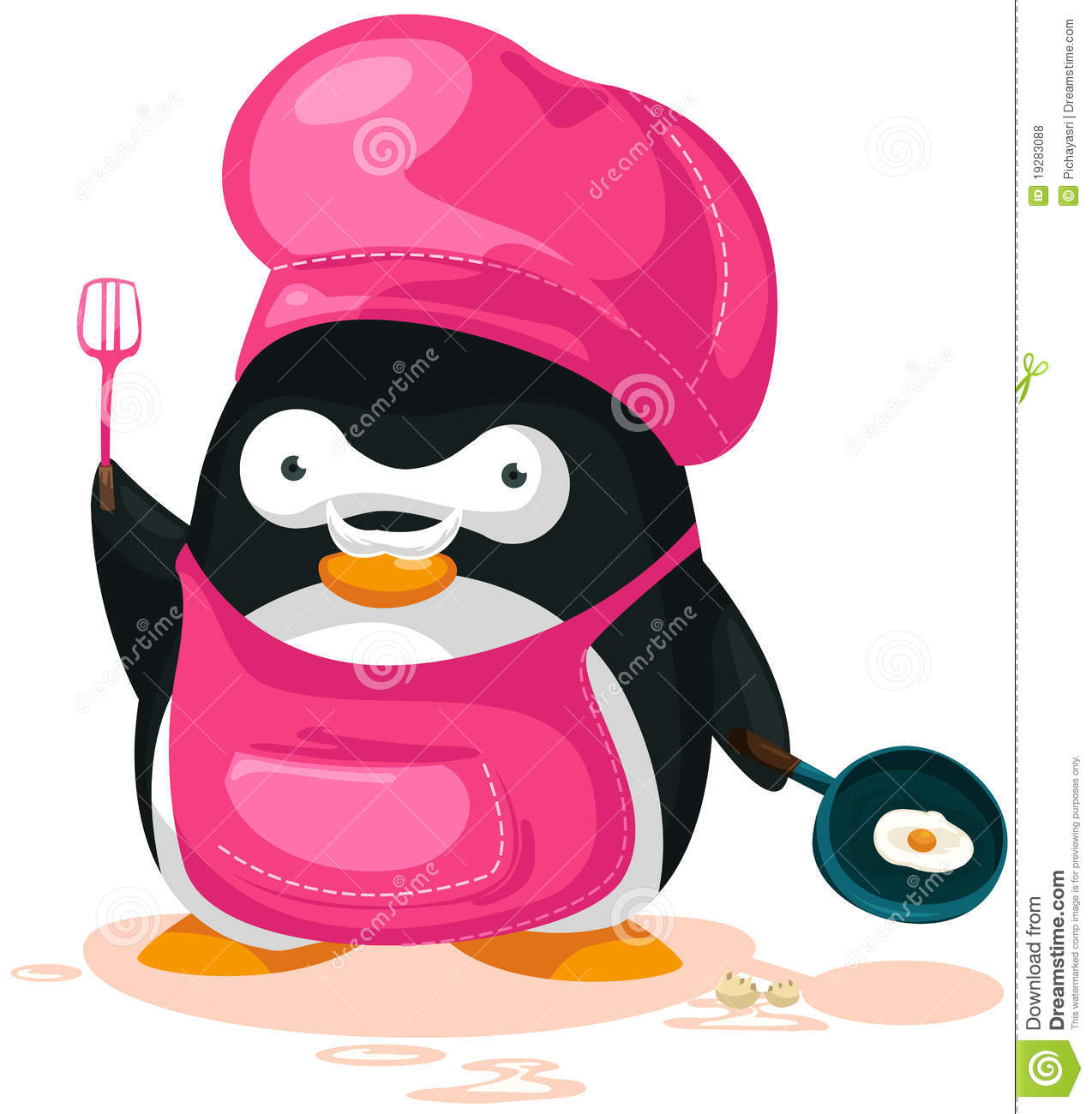 penguin cooking cartoons illustrations amp vector stock