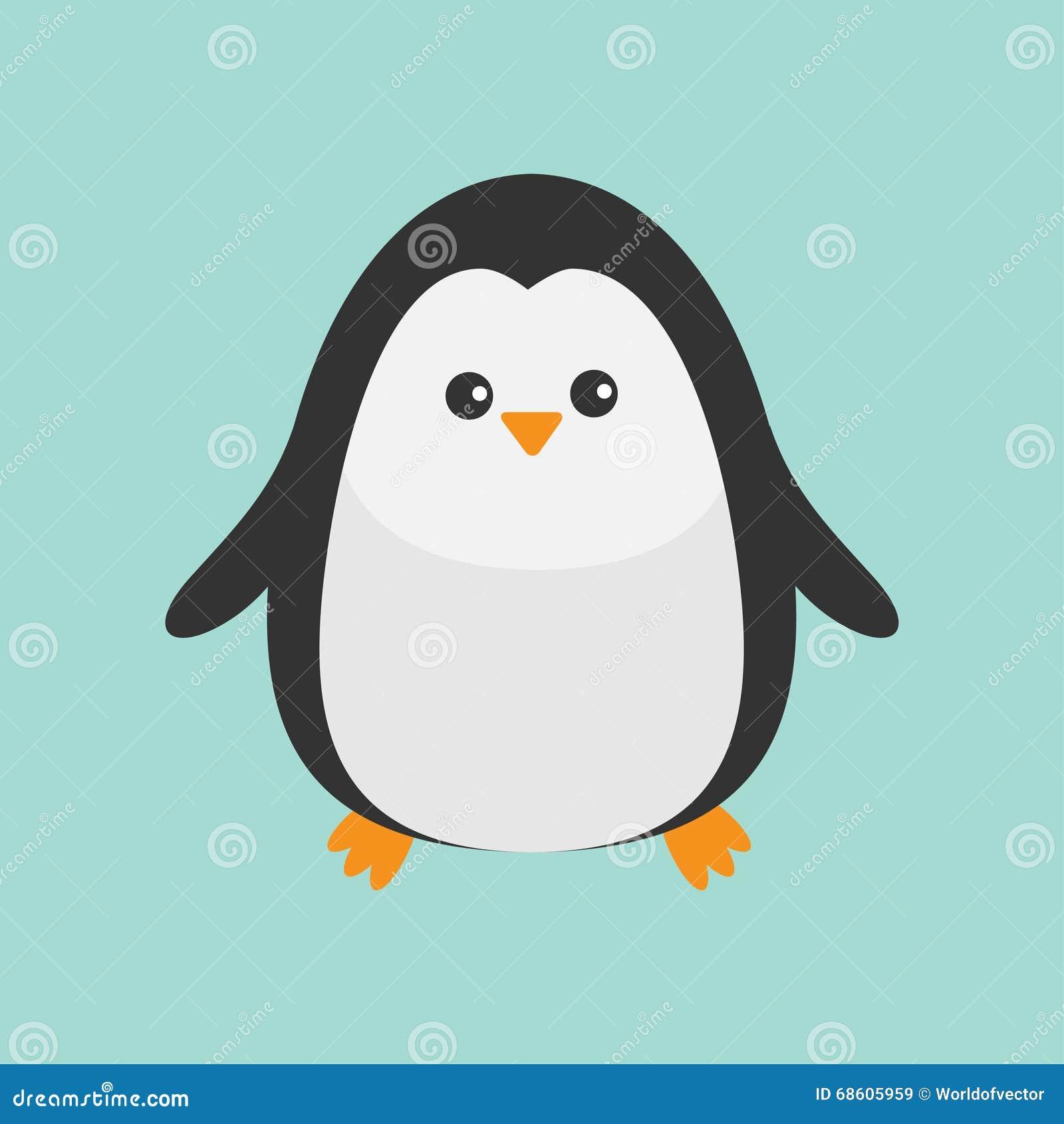 Penguin. Cute Cartoon Character. Baby Bird. Arctic Animal