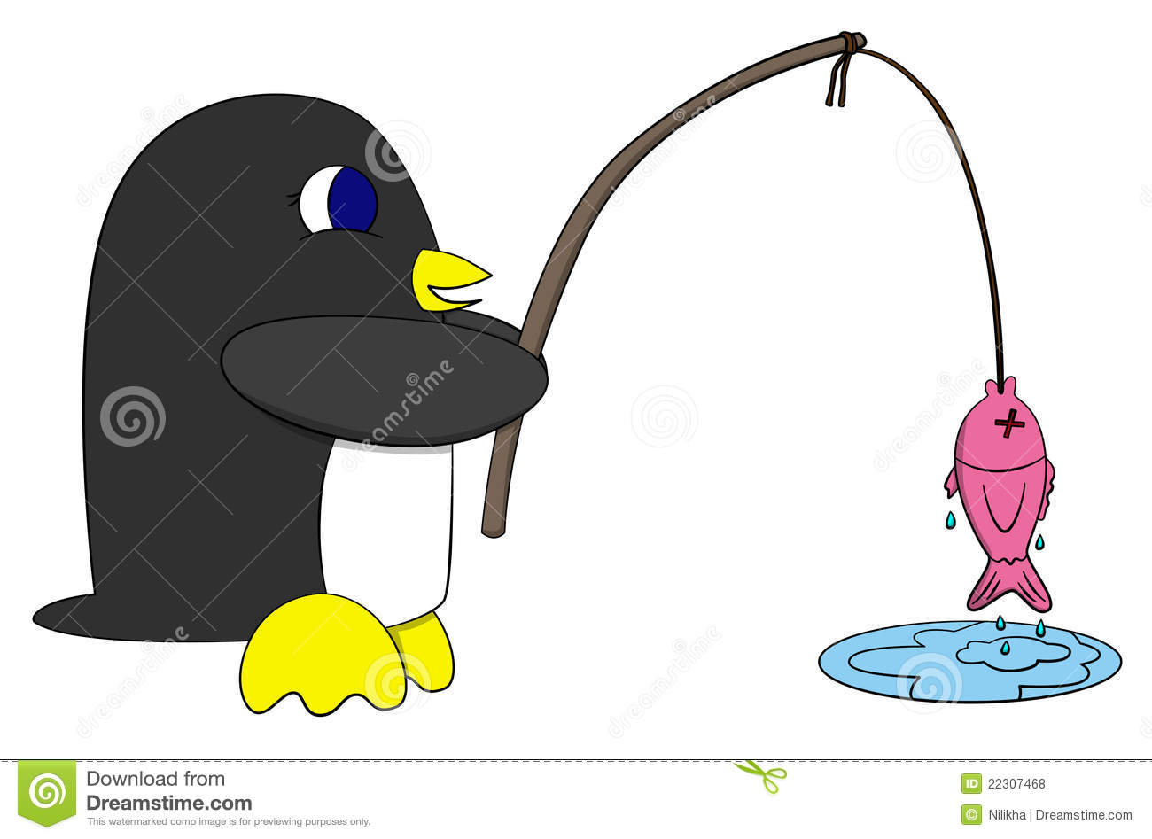 Penguin and fish royalty free stock photos image 22307468 for Penguin and fish