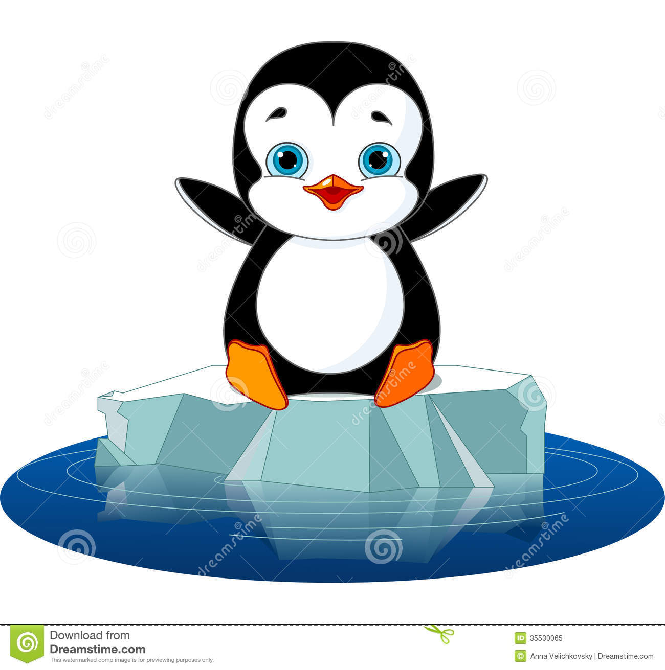 Penguin On Ice Royalty Free Stock Photo Image 35530065