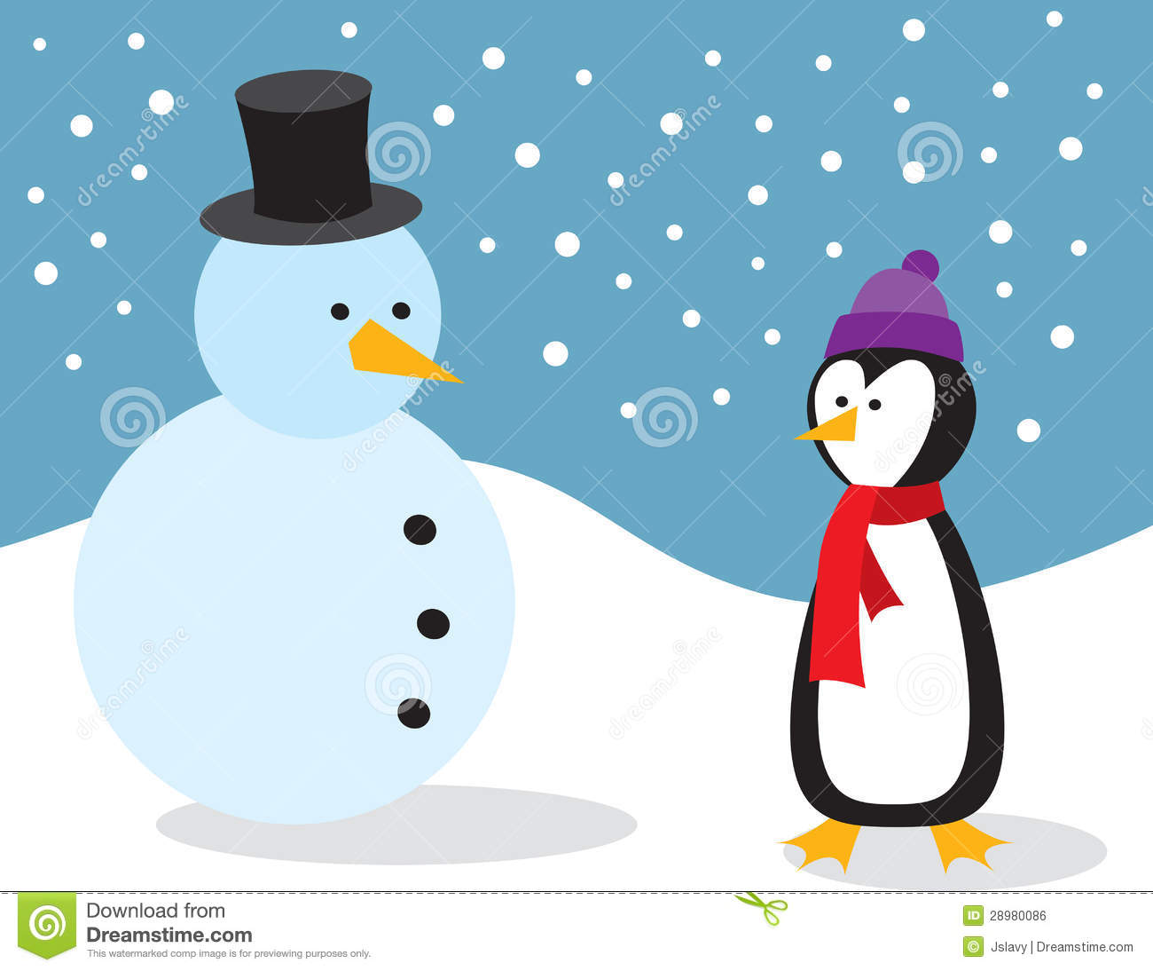 penguin with snowman royalty free stock image image