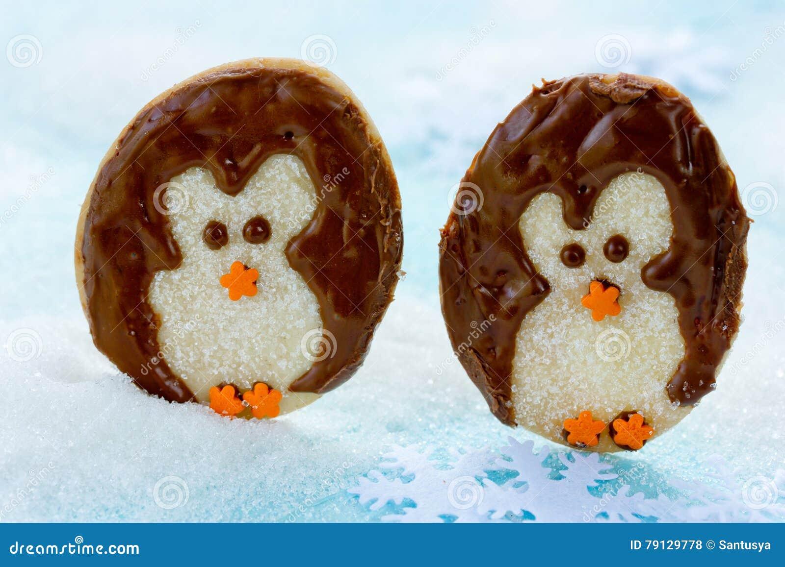 Penguin Sugar Cookies Christmas Cookie Idea Stock Photo Image Of