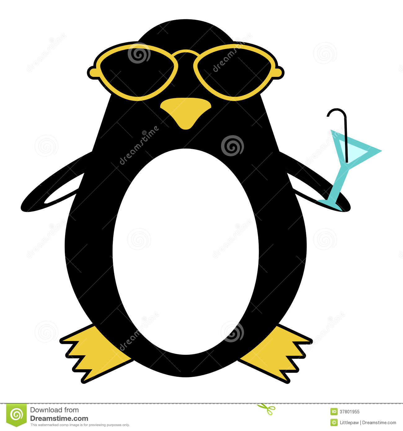 penguin-sunglasses-cocktail-funny-378019