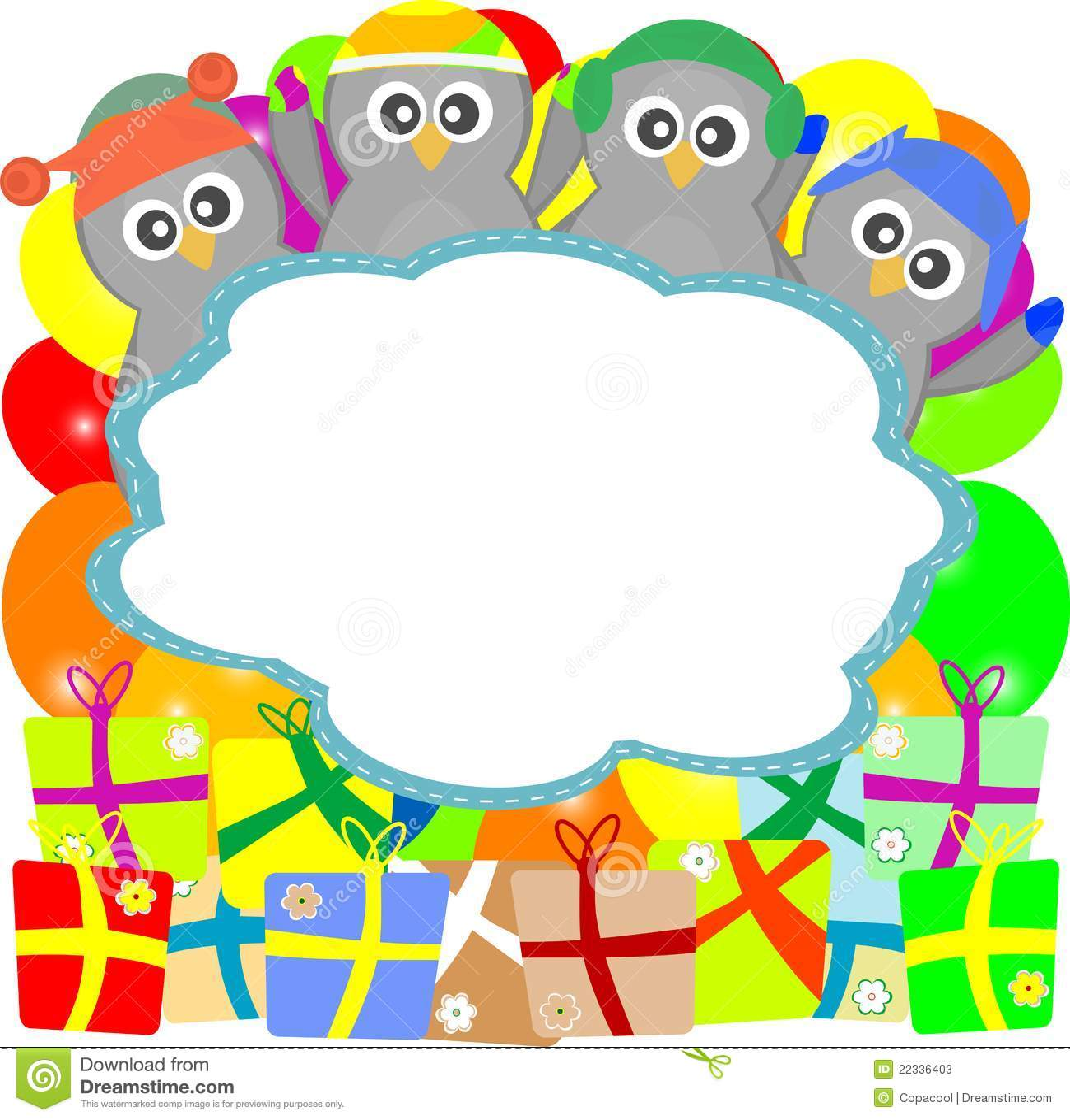 Penguin With Surprise Happy Birthday Gift Box Stock Vector