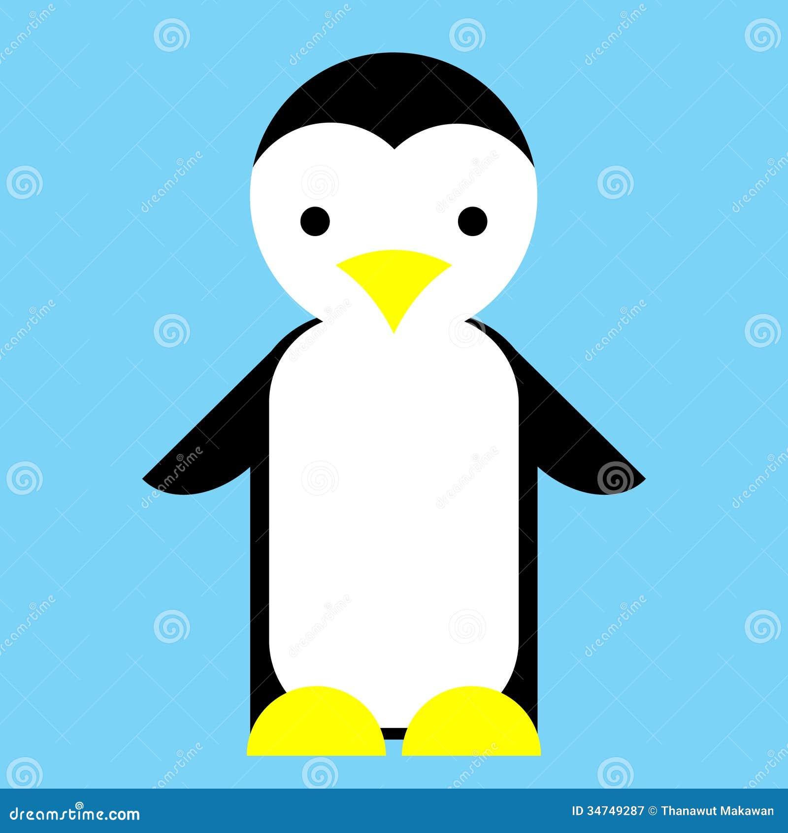 Puppet Penguin  cute penguin Cute Blue Cartoon Penguin